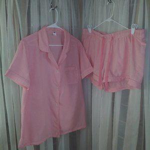 Old Navy Melon Gingham 2Pc. Pajama Set